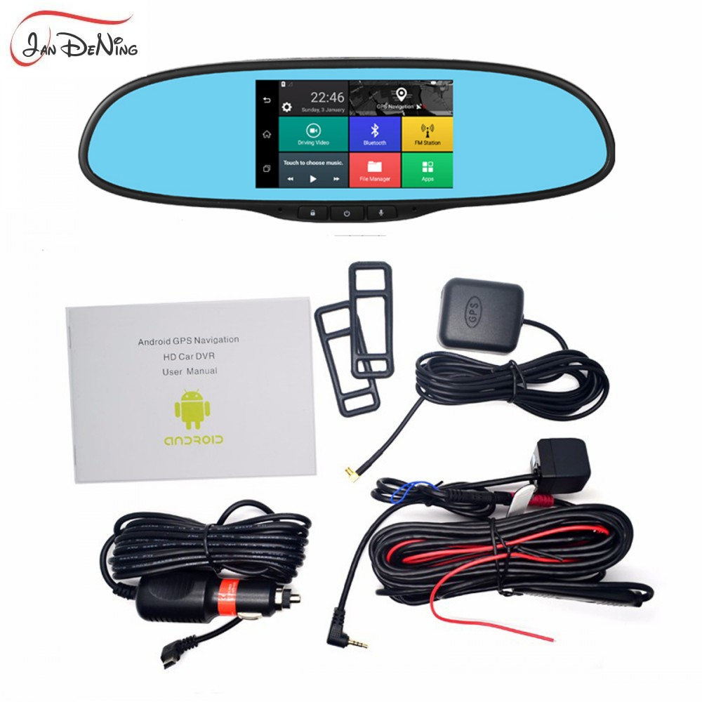 JanDeNing JanDeNing 5.0 IPS touch Screen 3G network Android 5.0 quad core RAM 1GB bluetooth Dual Cam Mirror Car DVR