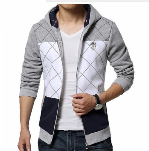 new fashion Sweatshirt men hit color men hoodies hip hop side zipper mensports suit slim sportsware tracksuit