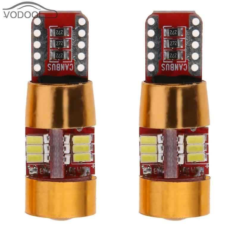 2Pcs T10 3014 27SMD White LED Car Width Light Bulb Automobiles Light-emitting Diode Dome Reading Door Tail  Turn Signal Lamp 12V