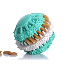 Pet Dog Toys Ball Chew Food Bite-Resistant Tooth Teeth Nontoxic Natural Rubber Clean Training Dispenser