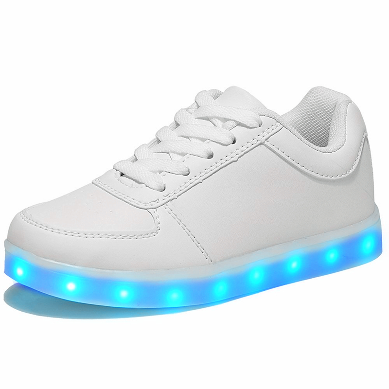 Led luminous Shoes For Boys girls Fashion Light Up Casual kids 7 Colors USB charge new simulation sole Glowing children sneakers bright leather children led kids light shoes for boys girls new fashion luminous sneakers chaussure enfant lumineuse shoes