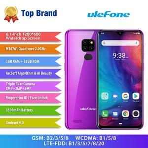 Image 2 - Ulefone Note 7P Smartphone Android 9.0 Quad Core 3500Mah 6.1 Inch Triple Camera 3Gb + 32Gb 4G Mobiele Telefoon Mobiele Telefoon Android