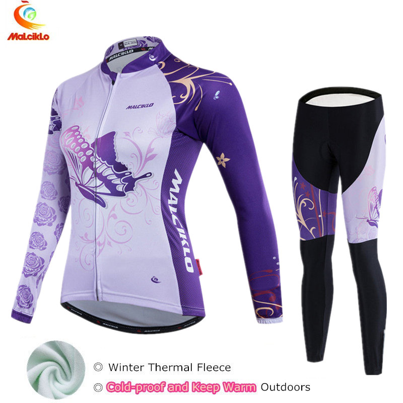 2018 maillot ciclismo mujeres winter cycling clothing women mtb thermal fleece cycling jersey long sleeve winter sets