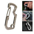 EDC Outdoor Survival Multifunction Keychain Camp Hike Rescue Gear Mini Carabiner Multi Tool Quick Lock Buckle
