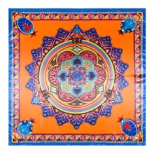 LEAYH Brand New 90cm*90cm Printed Shawls Bohemian Bodhi Twill Silk Square Scarf Large Head Wraps Scarves For Women Female