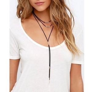 Women Unique Design Fashion Personalized Necklace Brass Pendants Velvet Multi Layer Choker 2016 New Jewelry Wholesale