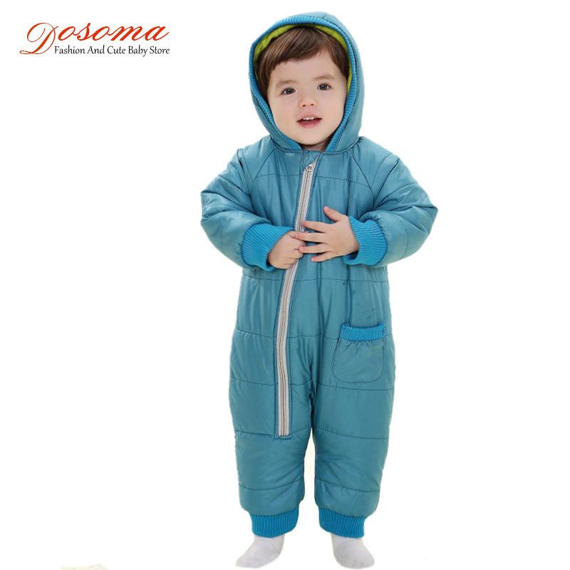 Kids Warm Jumpsuit Children Cotton Padded Infant Puffer Jacket Coat Siamese Newborn Baby Romper Climbing Clothing Sets Overall
