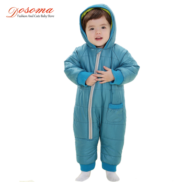 Kids Warm Jumpsuit Children Cotton Padded Infant Puffer Jacket Coat Siamese  Newborn Baby Romper Climbing Clothing e18c91a8a