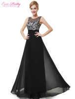HE08428BK Free Shipping 2015 New Arrival Round Neck Black Sexy Discount Evening Dress Plus Size For