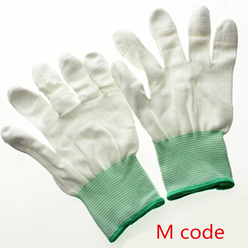 Image 4 - 100pairs Antistatic Gloves Anti Static ESD Electronic Working Gloves pu coated finger PC Antiskid for Finger Protection-in Safety Gloves from Security & Protection