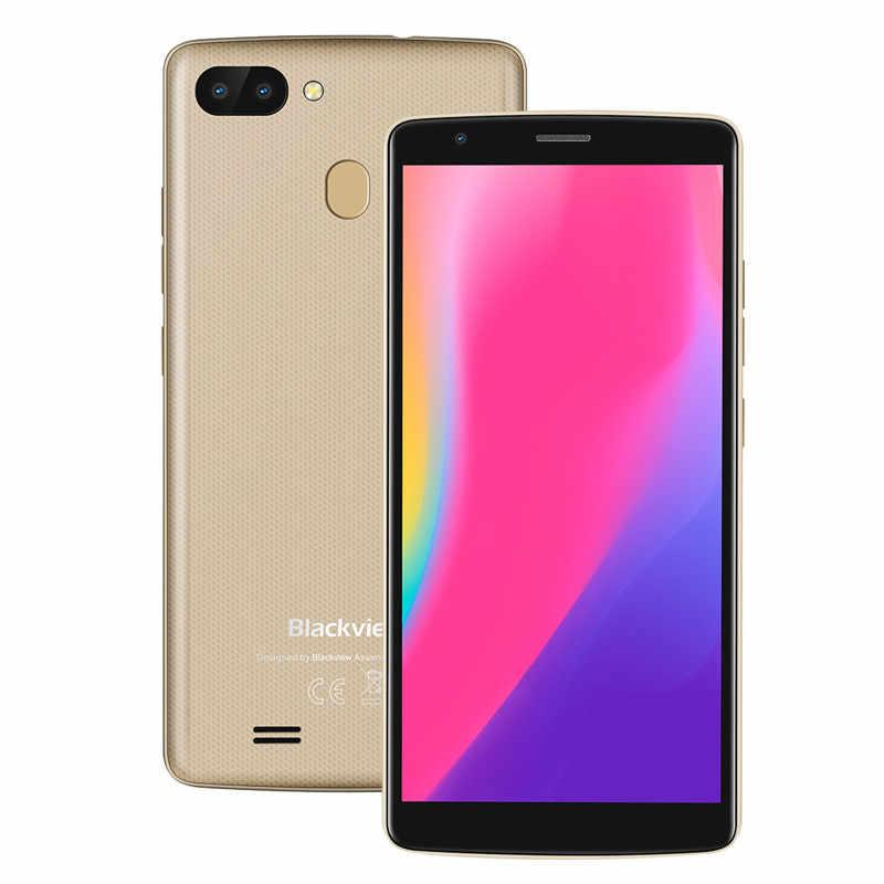 Téléphones mobiles d'origine Blackview A20 Pro 4G Android 8.1 2GB + 16GB Smartphone Quad Core double caméra arrière 5.45 pouces 720P téléphone portable