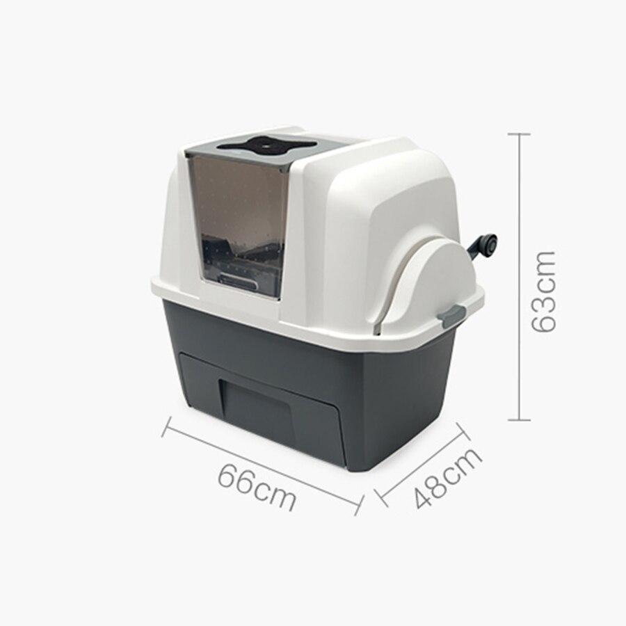 Grande litière Semi fermée produits de litière pour chat Inodoro automatique pour animaux de compagnie Arenero Gato Automatico boîte de tamisage luxueuse 30MC54 - 2