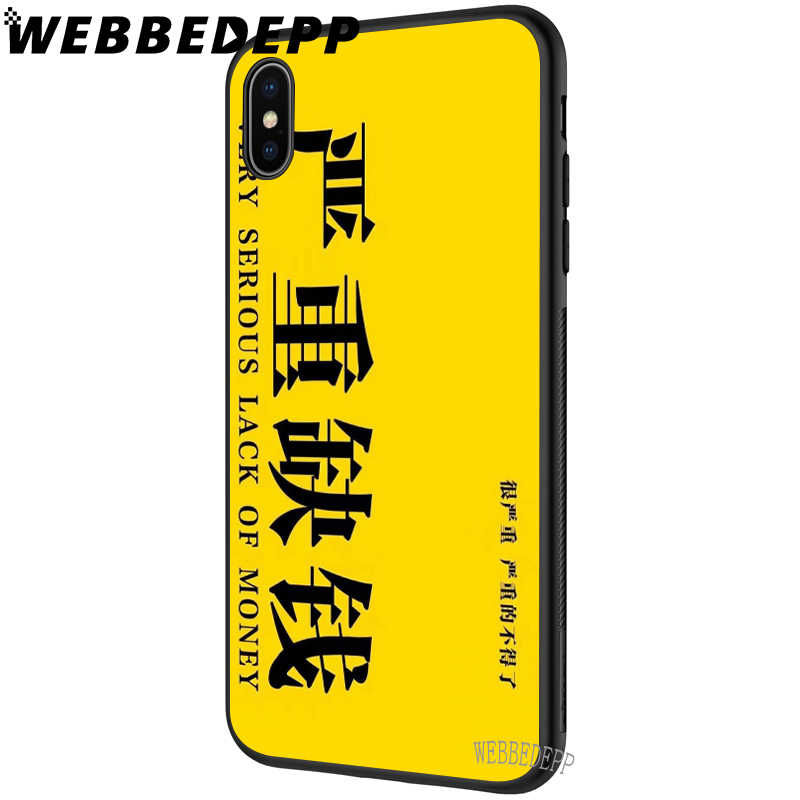 WEBBEDEPP Einfache Chinesische Englisch worte Weichen Fall für iPhone 5 5S 6 6S 7 8 Plus X XS 11 Pro MAX XR Abdeckung