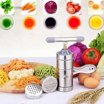 Бытовые Нержавеющаясталь Руководство Паста машина стороны Давление лапши машина лапша чайник с 5 Модели massas спагетти