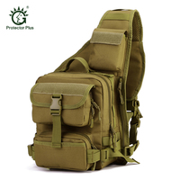 High Quality Men 1000D Nylon Tactical Military Travel Riding Cross Body Messenger Shoulder Backpack Sling Chest Waterproof Bag