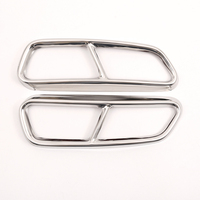 2 Pcs Exhaust Pipe Cover Stainless Steel Chrome For Audi A6 A7 C7 2016 2018 Car Accessories