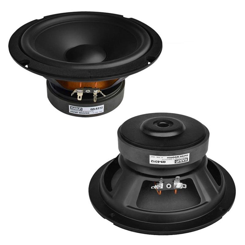 Хорошее качество 8 дюймов HiFi спикер QS8312 для автомобиля Аудио домашнего кинотеатра динамик Книжная полка динамик ремонт DIY Аудио