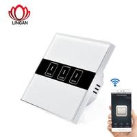 EU Smart Switch Wireless Wi Fi Wall Light Touch Switch Remote Control Panel On Off Sensor