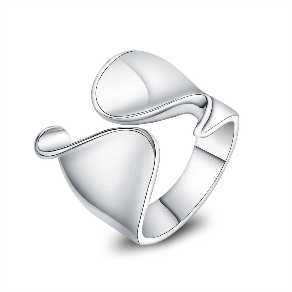 Resizable Size Silver Plated Fingers Thumb Rings for Women Men Opening Unisex Jewelry Top Quality Unique Smooth Geometric Ring(China)