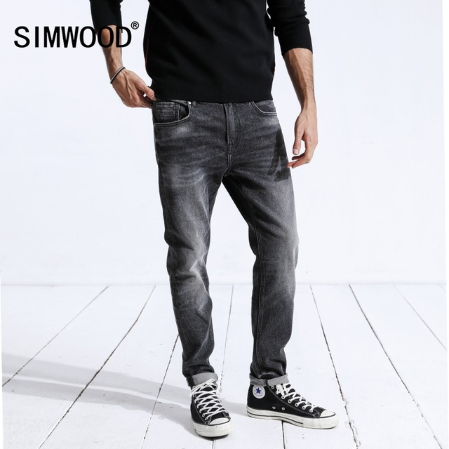 SIMWOOD New Arrival Men's Jeans 2018 Hot Sale Denim Pants For Men Jeans Male Fashion Slim Regular Casual Brand Trousers 180330