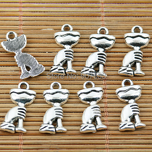 40pcs Tibetan silver hand holding the cup charms EF1648