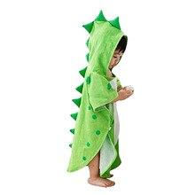 Детское пляжное полотенце с капюшоном, с динозавром, пончо, с капюшоном, детское банное полотенце с рисунком динозавра, Bathrobec#15