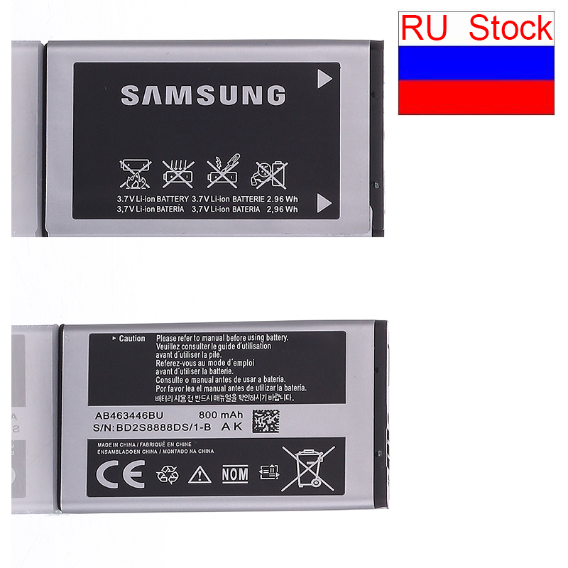 Ship from RU stock Batteria SAMSUNG Original Replacement Mobile For samsung 800mah Battery F299 C3300K X208 B189 B309 AB463446BU