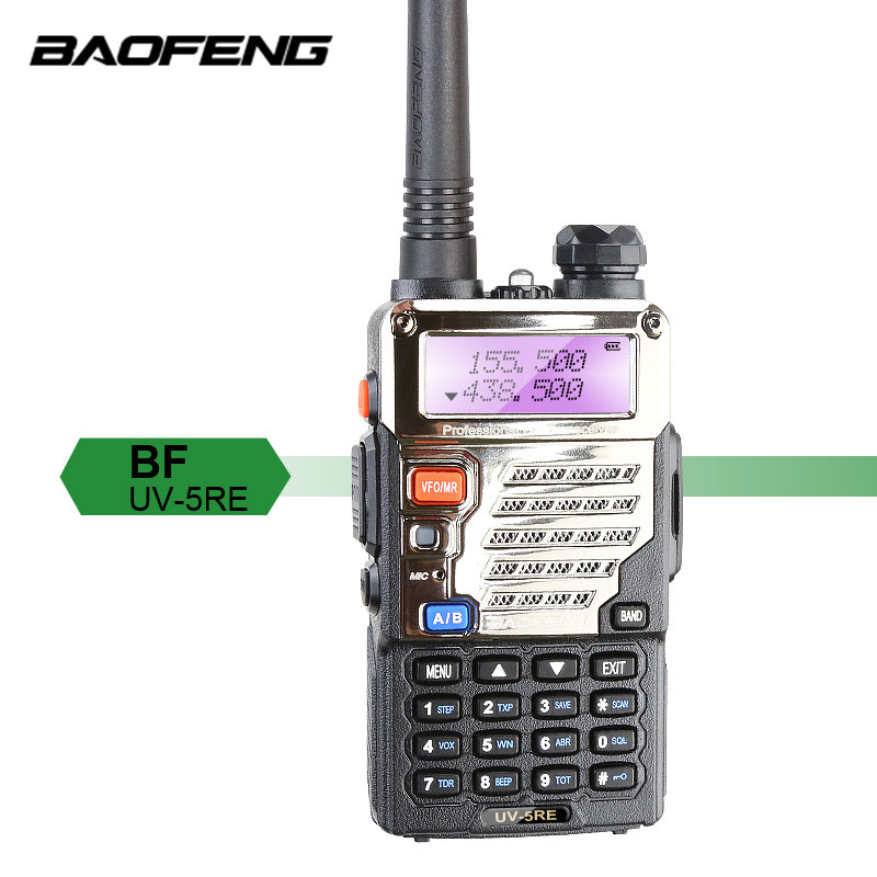 Baofeng UV-5RE Plus Talkie Walkie 128CH Dual Band VHF 136-174MHz&UHF 400-520MHz Transceiver Two Way Radio Portable