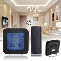 Wireless Indoor Outdoor LCD Weather Station Sensor Temperature Humidity Meter Snooze Alarm Clock Digital Thermometer Hygrometer