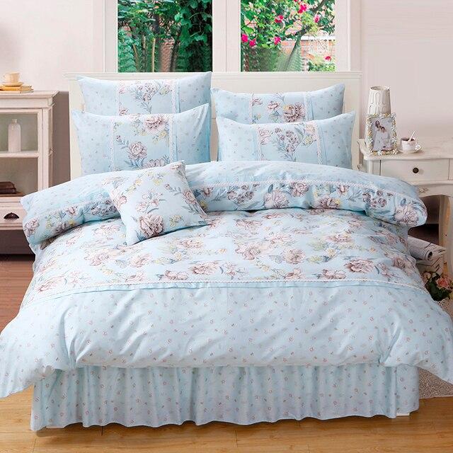 151435b23 Princesa floral Ropa de cama conjunto para Niñas mujeres 100% algodón  Fundas nórdicas 200x230 cm