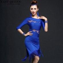 Latin dance dress women tango fringe dress for dance rumba s