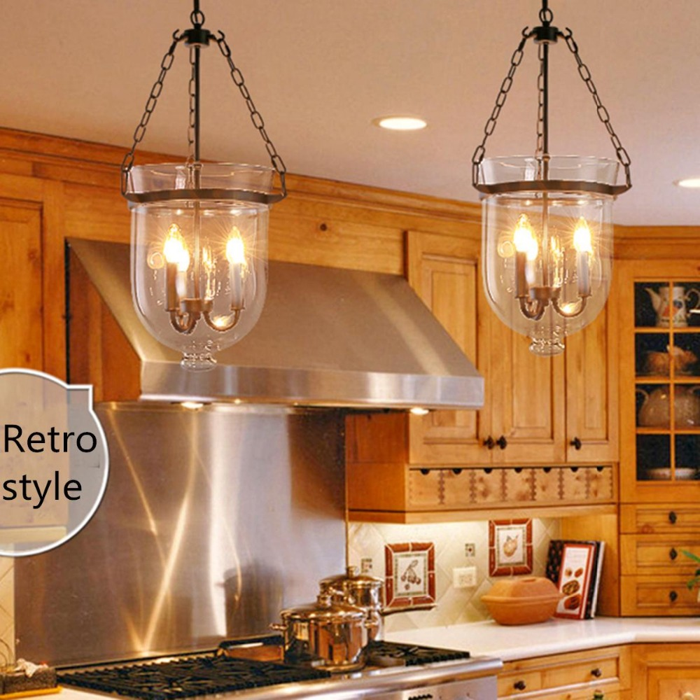 Hanging lamp vingtage glass pendant light kitchen ceiling lamp room hanging decor 250mm /9.84