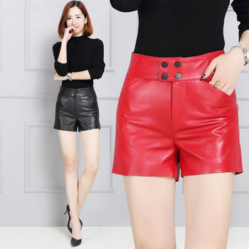 2019 Women Sheep Leather Large Size Wide Leg Shorts KS6 блок внутренний кассетный ballu machine bvrfc4 с 22 ks6