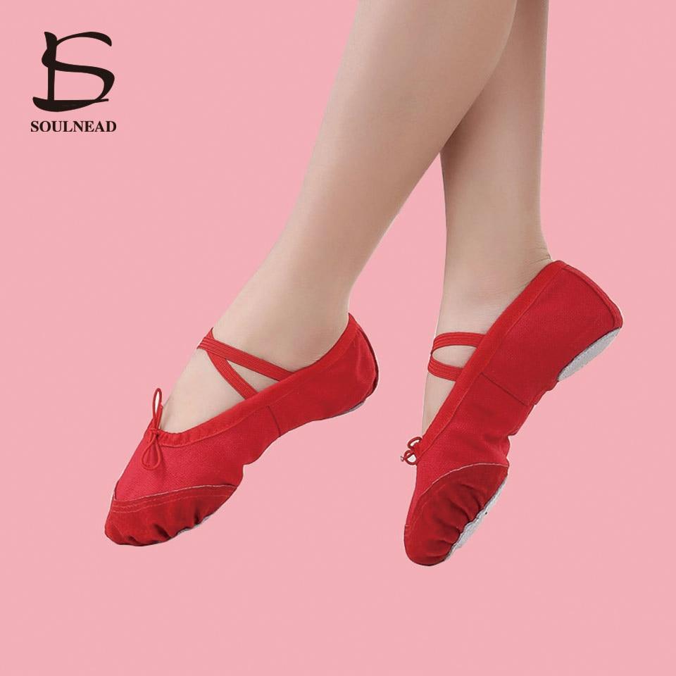 5pairs hot ballet shoes zapatillas de ballet kids women's ballet dancing shoes for girls black/pink/red/white salsa pointe shoes
