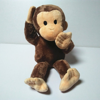 CURIOUS GEORGE MONKEY PLUSH TOY New Monkey Plush Doll 40cm monkey plush Children toys kids jugetes birthday gift фото