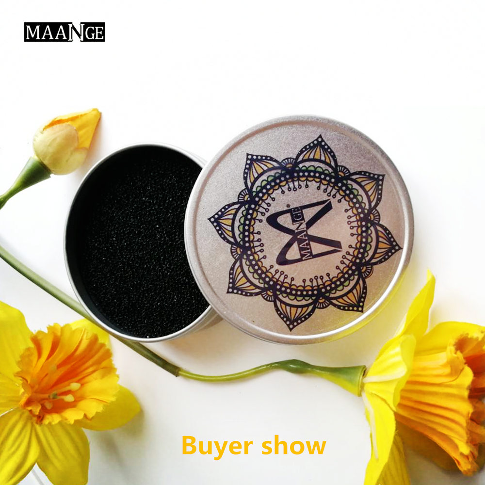 MAANGE 1PCS Makeup Brush Cleaner Sponge Remover Color From Brush Eyeshadow Sponge Tool Cleaner ,Quick Wash 3 Second Color Off !! maange round silicone makeup sponge