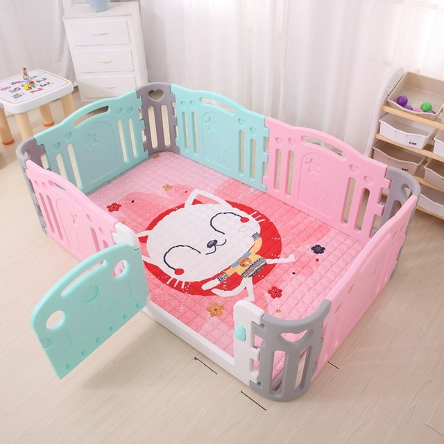 Colorful Safe Baby Kids Play Fence Baby Learning Walking Toddler Sleeping Fence Playpen Protection Space For Baby Kids