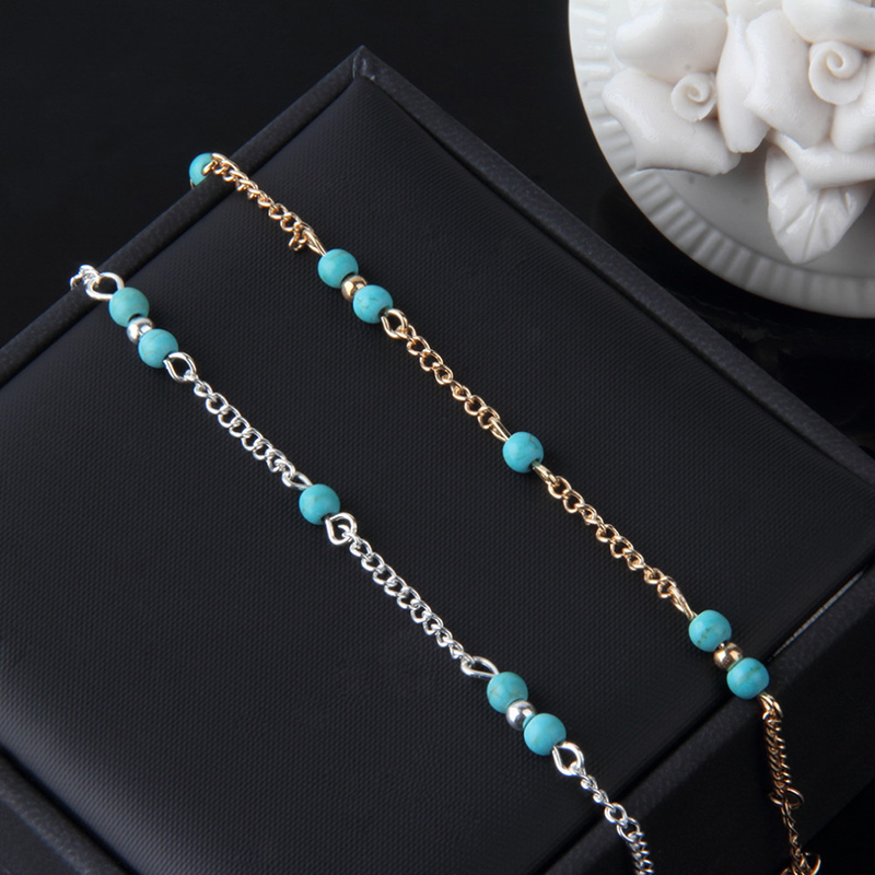 Hot Sexy Women Beads Ankle Chain Anklet Bracelet Foot Sandal Beach New 2016 Fashion font b