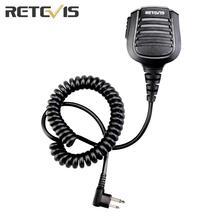 Retevis HM004 모토로라 GP68/GP88/GP300/ GP2000/CT150/SP10/CP88/100Two 웨이 라디오 용 2 핀 IPX5 방수 스피커 마이크