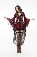 Ensen queen deluxe costume witch forked tail Dress Halloween scary costumes cosplay Vampire party Fancy fantasia women Dress