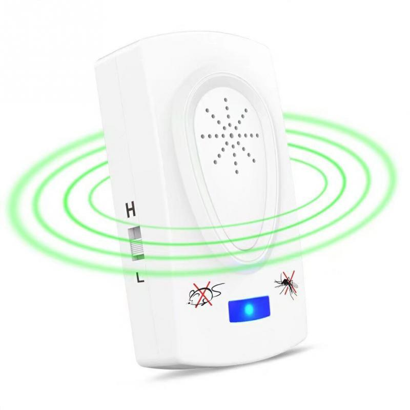 EU AU US Plug  Multi-function White Pest Repeller Electronic Ultrasonic Mouse Rat Mosquito Insect Rodent Control