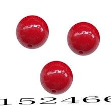 FLTMRH 20 мм 2 шт красный цвет большие массивные красные акриловые бусины материалы для рукоделия пластиковые массивные алфавитные жевательные резинки