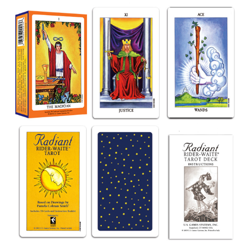 Bright color Welt Tarot English Divination Love Business Tarot Card Collection Card Divination Game Board Game Card in Desk Set from Office School Supplies