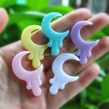 10pcs/lot Hot Glitter  Sailor Moon Magic wand FlatBack Reisn Cabochon for Phone Decoration 26*40mm