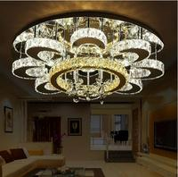 Modern Romantic K9 Crystal Ceiling Light Ring Luxury LED 3 Colors Remote Control 110 220V Ceiling