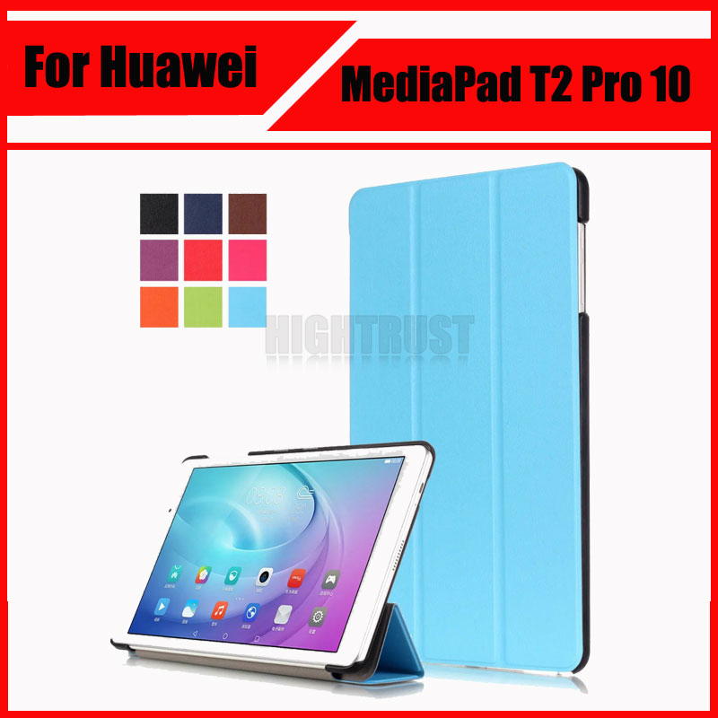 3 in 1 Slim 3-Fold Folio PU Leather Case Flip Cover For Huawei MediaPad T2 Pro 10 FDR-A01W FDR-A03L Tablet Case Cover + Gift new fashion pattern ultra slim lightweight luxury folio stand leather case cover for huawei mediapad t2 pro 10 0 fdr a01w a03l