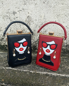 Image 3 - نظارات عالية الجودة مثير امرأة نمط بولي Casual المرأة عادية محفظة حقيبة يد حقيبة كتف الإناث مستحضرات التجميل حقيبة كروسبودي بولسا