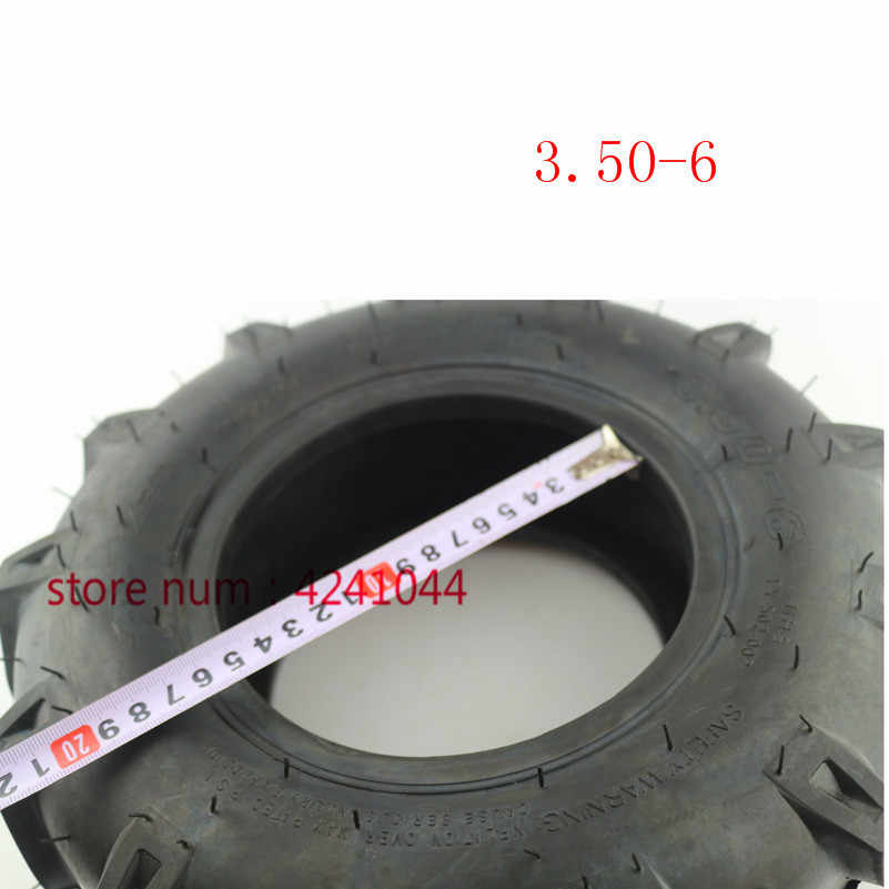 Wear resistant 3 50-6 thickening vacuum tyre for rotary cultivator ATV Quad  Lawn Mower Garden Tractor