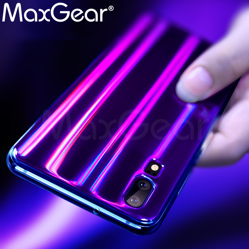MaxGear for Huawei P20 Case Cover Huawei P20 Pro Soft TPU back Case P20 Aurora Shining Silicone Full Cover p20 back Case Laser ...