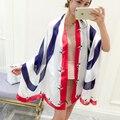 Новый Дизайн Плюс Размер Женщин Шелковый Шарф Пляж Шаль Цветочный Печати Леди Шарфы Écharpe Роскошный Wrap SC2842